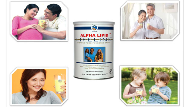 Sua non Alpha Lipid LifeLine co chua kha nhieu canxi