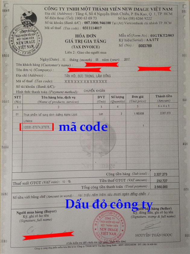 Hóa đơn VAT photo